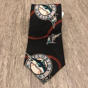 ralph marlin florida marlins tie black Vintage NWT
